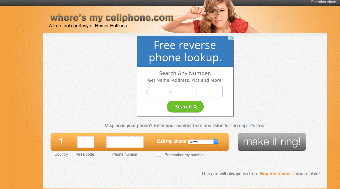 Find Your Cellphone at Your Apartment with This Website