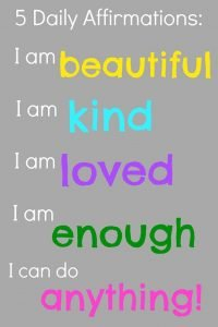 image shows affirmations and how they boost confidence